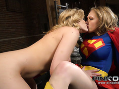 Super girl gets eaten by bootylitious lesbo villain