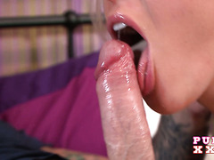 Cranky British blondie with big fake hangers Victoria Summers fucks like a champ