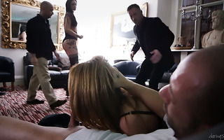 Steamy group sex with curvy whore moms Carly Gee and Sasha Kash