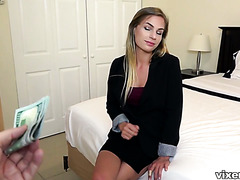 He pays 500 bucks to fuck sexy real estate agent Sydney Cole
