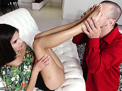 Katya Rodriguez gets feet licked and pussy fucked hard