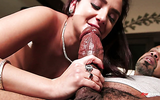 Thick ass Puerto Rican MILF Sheena Ryder is riding a giant black cock