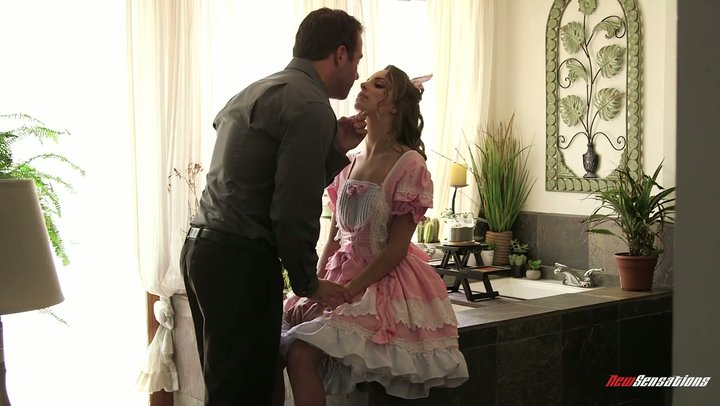 Kimmy Granger takes on a cute dress and fucks like a slut