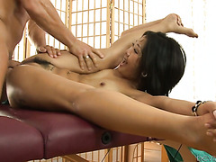 Asian masseuse Saya Song hot banged her furry pussy