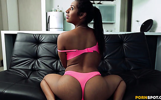 Spicy Latina Lahia Crox twerks her phat ass and rides a cock