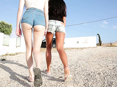 Fascinating Euro babes Lucy and Heidi play with each other's pussies