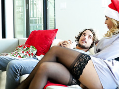 Xmas time sex with thick stepmom Olivia Austin and lucky stepson