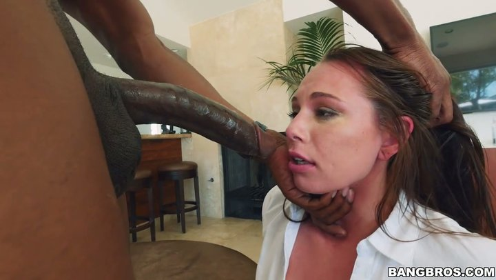 White hoe Aidra Fox can't stop cumming on a giant black dick