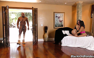 Bulky black guy saves the day and fucks Abella Danger & Melissa Moore
