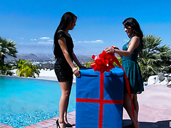 Maya Bijou offers her friend Sophia Leone threesome with her BF