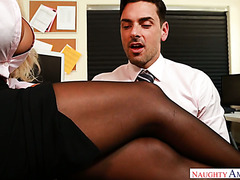 Office clerk fucks his busty colleague Bridgette B at work
