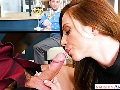 Ariella Ferrera takes cuckold hubby's friend upstairs and fucks him
