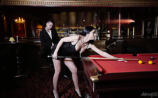 Unexpected ardent sex at the bar with Spanish seductress Julia De Lucia