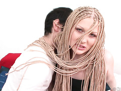 Kinky Russian college chick Olga gets ass fucked by a hairy dude