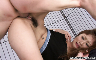 Hibiki Otsuki gets gangbanged by three men in a prison cell and creampied