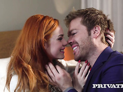 Brit redhead honey Ella Hughes makes love with yet another gentleman