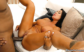 Mature Latina Simone Garza can barely fit BBC in her tight ass and pussy