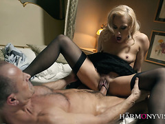 Brittany Bardot puts on a classy and sexy attire on and fucks with passion