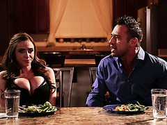 Angry dude hate fucks his wife Ariella Ferrera for cheating on him with his brother