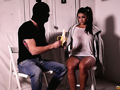 Taken for ransom Spanish babe Susy Gala fucks her handsome and caring abductor