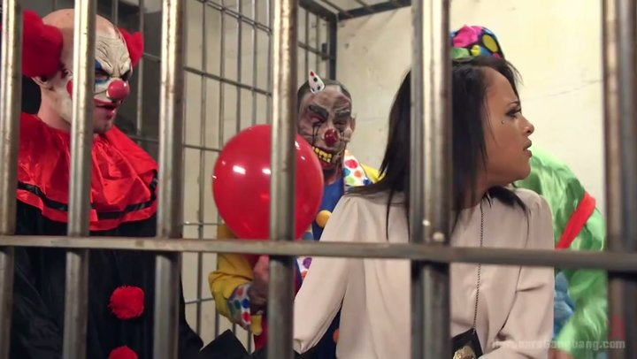 Fucks clown ebony teen Skinny
