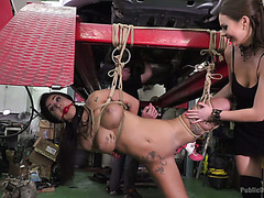 Session of public humiliation and dirty sex with sub slut Susy Gala