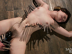 Yhivi gets whipped rough, tortured with clothespins and toyed