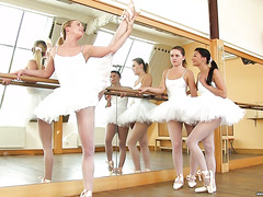 Czech ballerinas Adele, Valerie & Vinna Reed have hot lesbian threesome