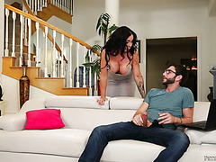 Promiscuous stepmom Simone Garza gets funky with nerd stepson