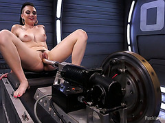 Mega fucking machine pushes Rachael Madori through hardcore orgasms
