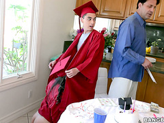 Latina babe Jynx Maze celebrates graduation on stepbro's cock