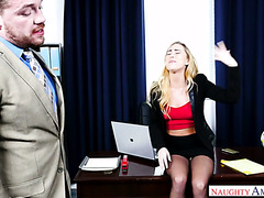Wanton office babe Carter Cruise seduces huge dicked boss