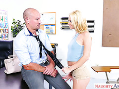 Riley Star has a sexy time with teacher in college room