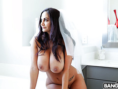 Busty bride Ava Addams fucks best man right before wedding