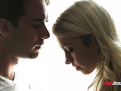 Lil blonde stepsis Khloe Kapri screams on his jealous dick
