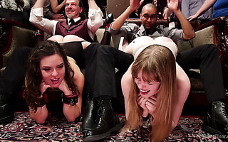 Juliette March and Dolly Leigh get fucked on wicked BDSM party