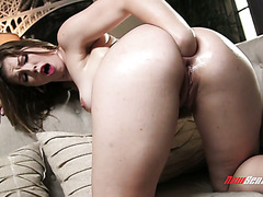 Ella Nova painstakingly fist fucks her big milky booty