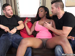 Chunky black gal Lisa Tiffian is used by two white friends of hers