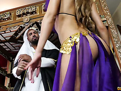 Alluring concubine Chloe Amour pleases her sheikh