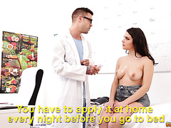 Valentina Nappi lets plastic surgeon smash her hairy Italian pussy