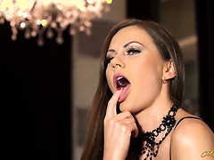European babe Tina Kay cheats on boyfriend with bartender