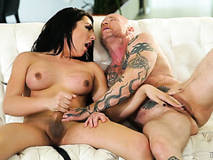 Man with vagina Buck Angel is fucked by tbabe Chanel Santini