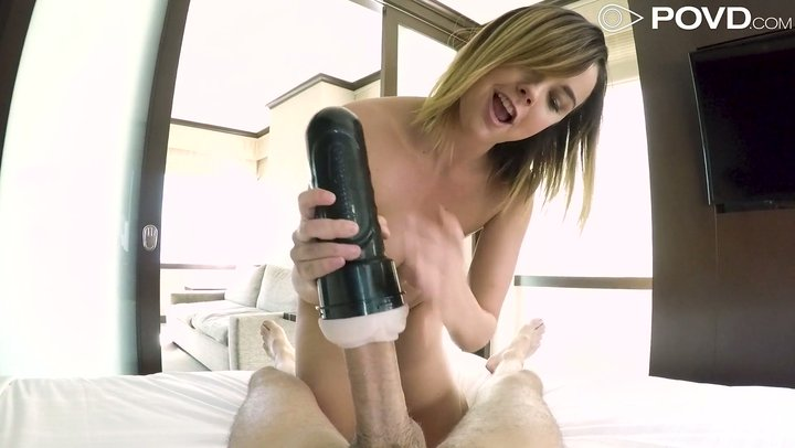 Lush Dillion Harper fits giant cock in her hairy pussy in POV
