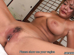 Thick and flexible Japanese girl enjoys hardcore sex and creampie