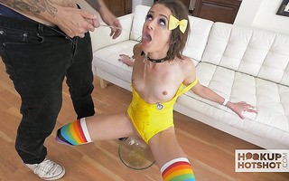 Andi Rye is turned into human toilet and face fucked to puking