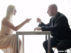 Perfect Euro MILF Masha makes love after a glass of champagne