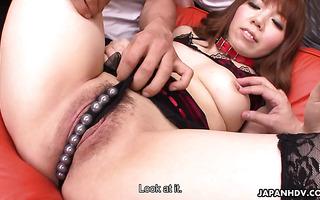Curvaceous Asian Momoko Aiuchi gets bukkake after gangbang