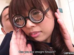 Hairy nerd Azusa Misaki is pounded by teacher