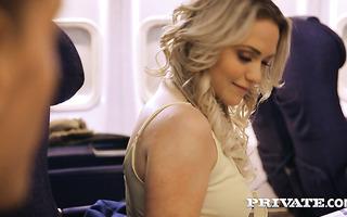 Adventurous babe Mia Malkova makes love with stranger on plane