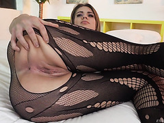 Lara West is railed by Nacho in her young Hungarian puss